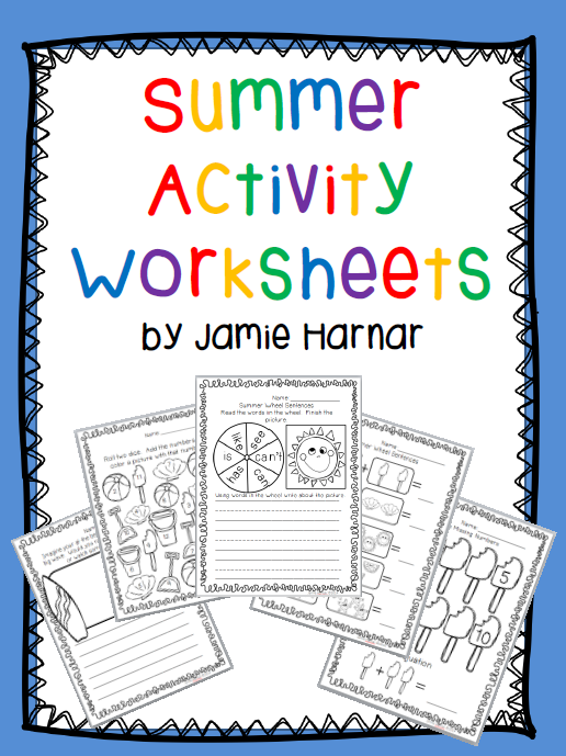 Itty Bitty Teacher: Summer Activity Worksheets