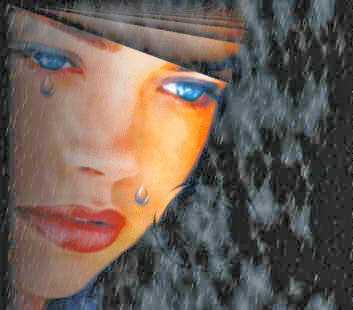 صور بنات به دموع حزينة