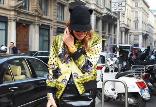 anna dello russo, cat hat, givenchy cat hat