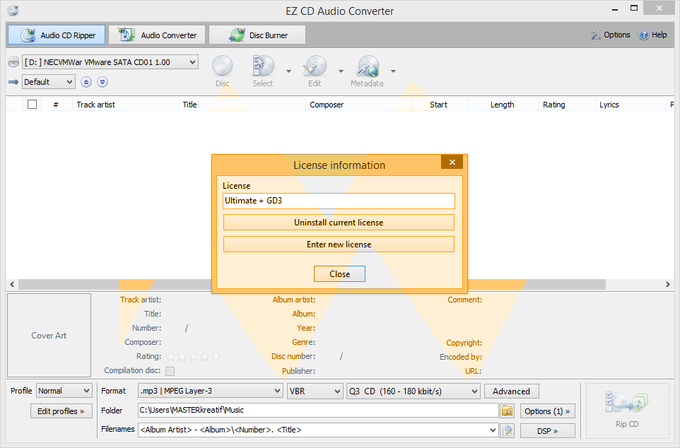 EZ CD Audio Converter 2.5 Full Crack