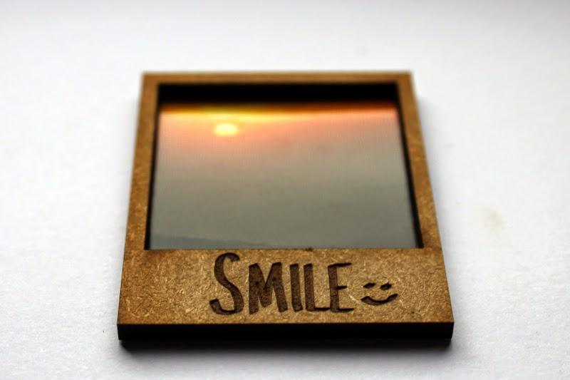 Bilderrahmen Geschenk Smile