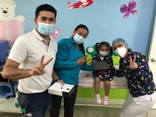 Secretarías TIC y de Salud de Boyacá entregaron tablets a niños que se vacunaron contra Sarampión y Rubéola