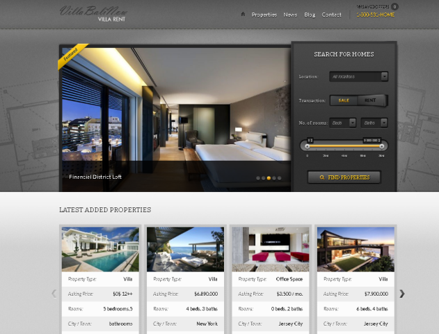 jasa pembuatan Website Rental Villa