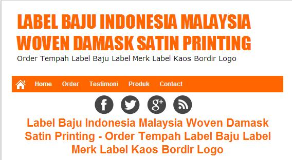 Label Baju Malaysia