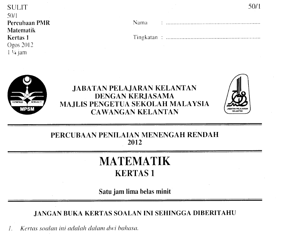 943 x 780 · 57 kB · png, Soalan Percubaan MATEMATIK PMR NEGERI