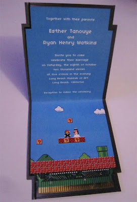 Super Mario Bros Themed Wedding Invitations Seen On www.coolpicturegallery.us