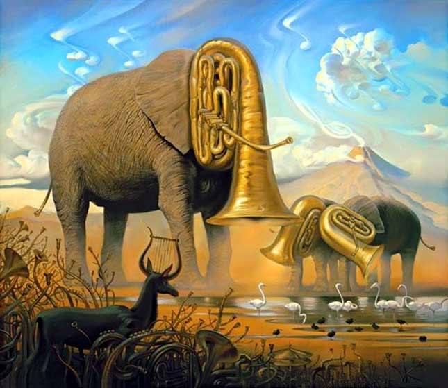 Rebanho de Tubas, de Salvador Dalí