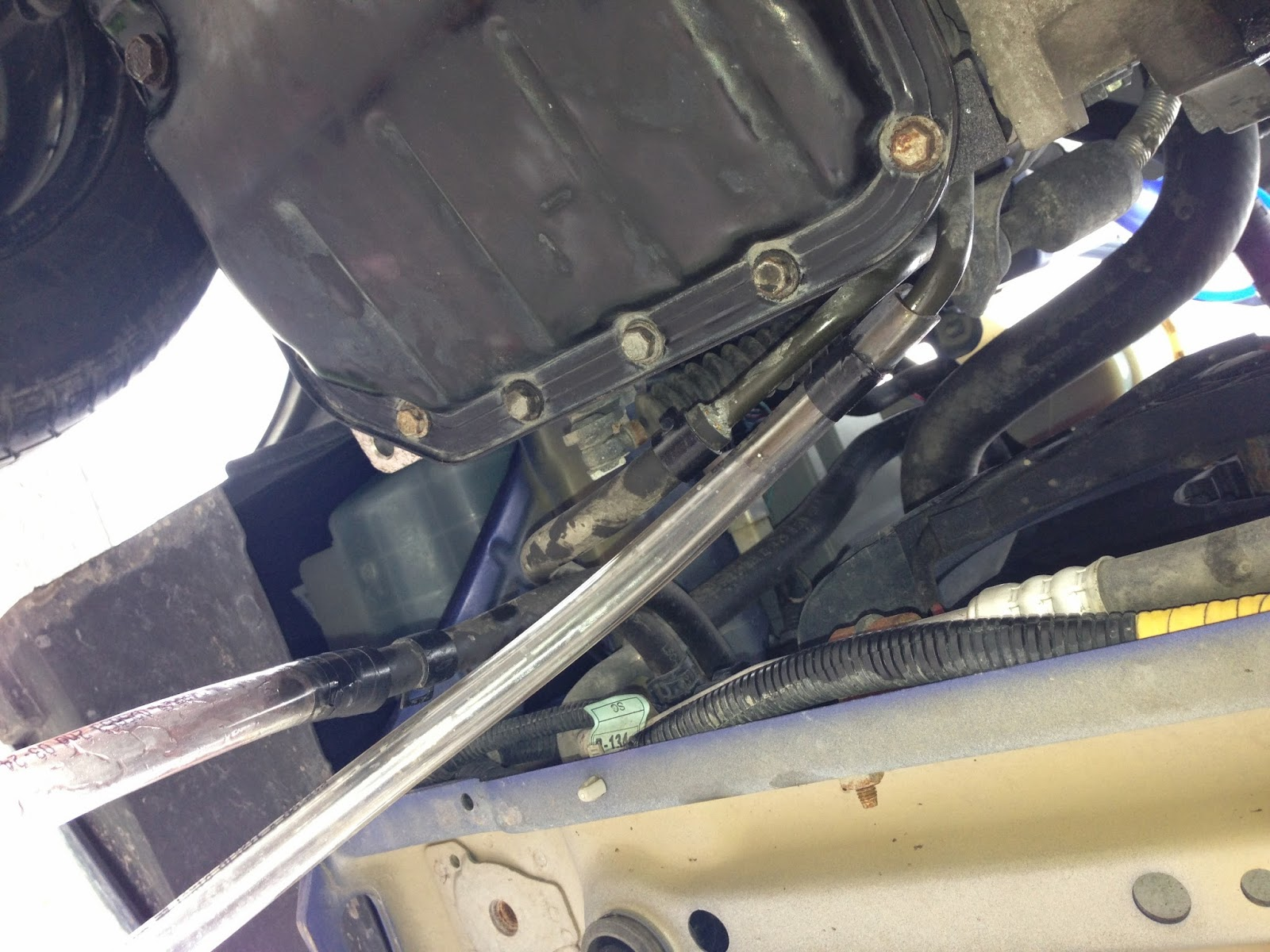 removal of transmission pan for a 1989 suzuki swift