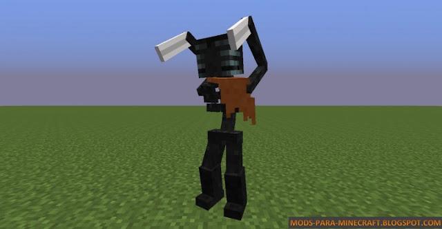 Un enemigo muy dificil de matar en Minecraft - The Morbid Reborn Mod para Minecraft 1.7.10