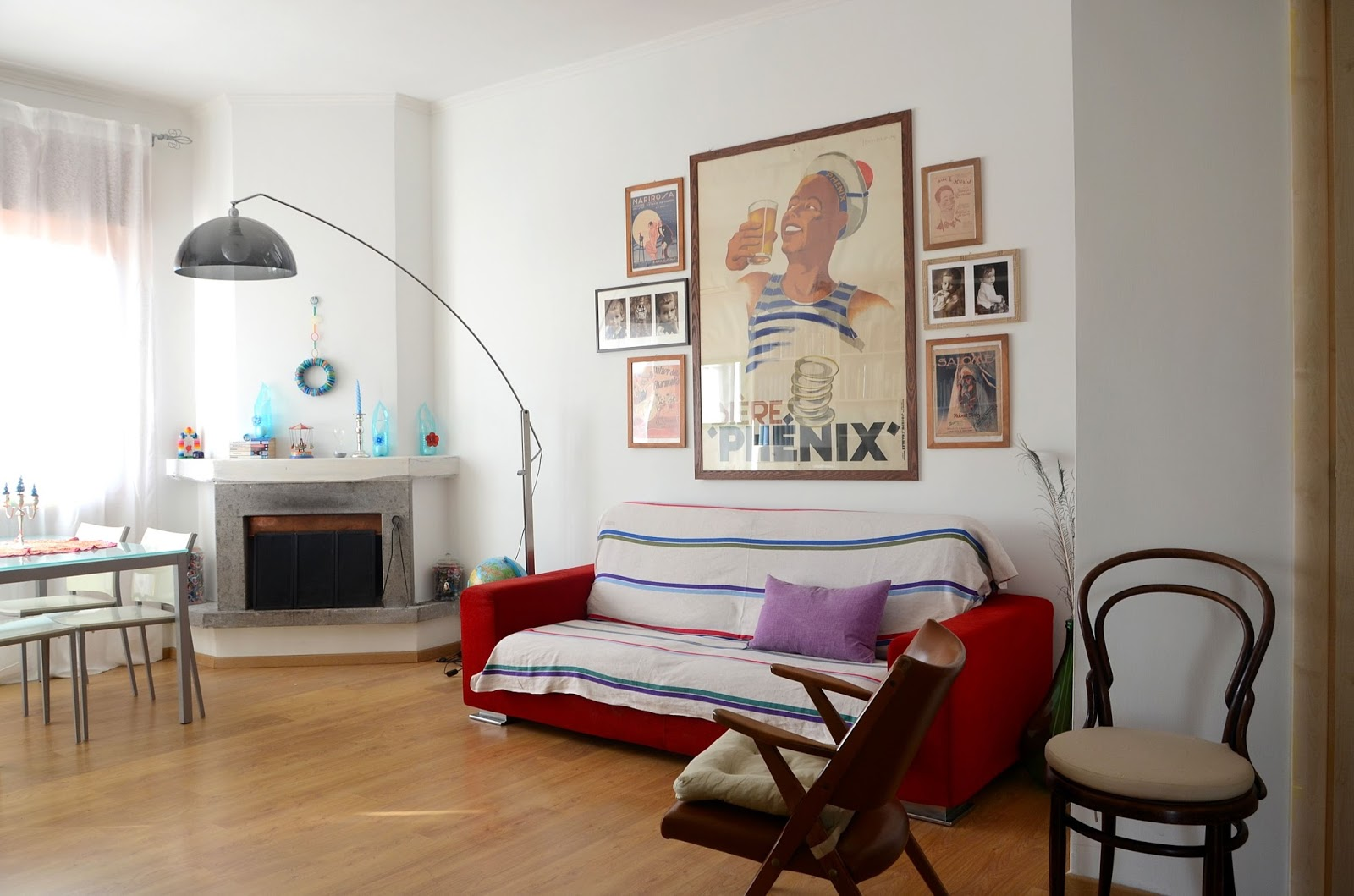 Linfa creativa my living room - Quadri sopra divano ...