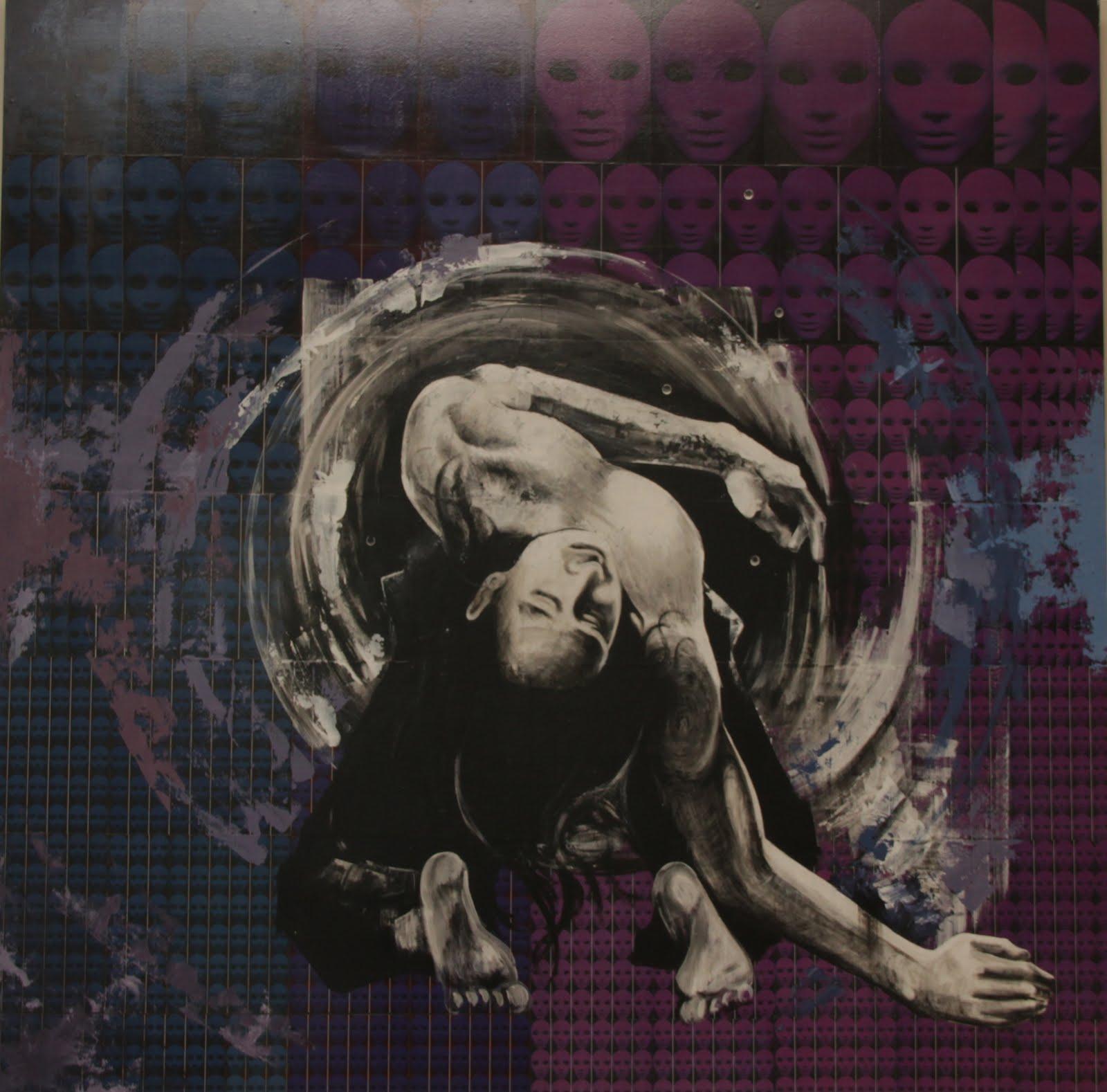 Solange Alves, Fractal 2 - Rasgando o Véu, Colagem/Acrílica sobre madeira, 140X140 cm