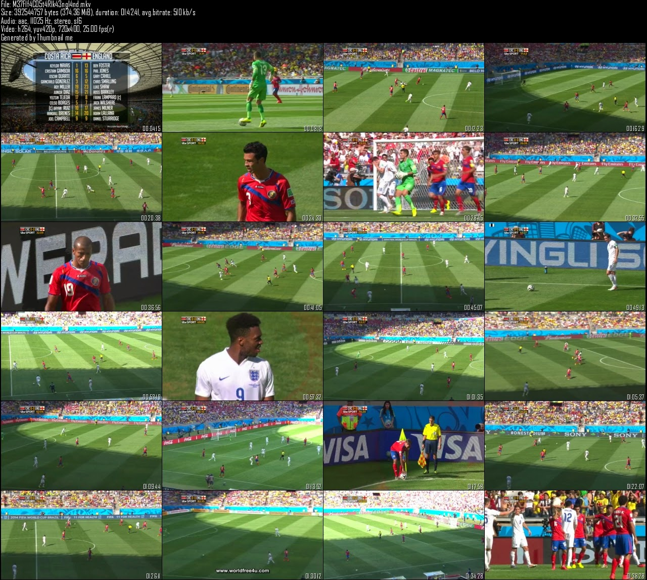 Screen Shot Of English Sports Show Fifa World Cup (2014) Costa Rica vs England Download And Watch Online Free at worldfree4u.com