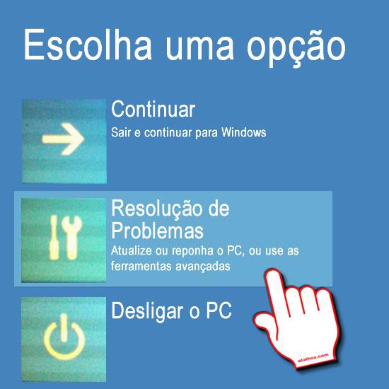 Opções de arranque Windows