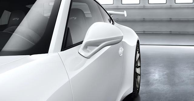 Detalle automóvil Porsche 911 GT3 2013, espejo exterior