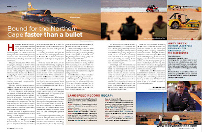 Recently Published: Bloodhound Project in February 2013 FINWEEK magazine
