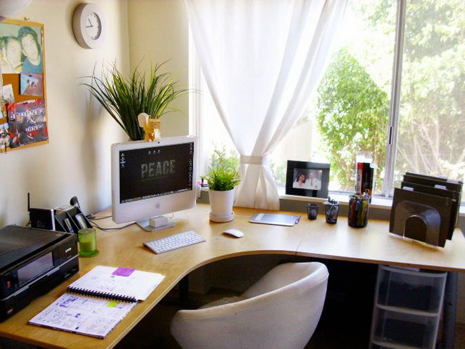 ruang kerja pribadi minimalis dirumah