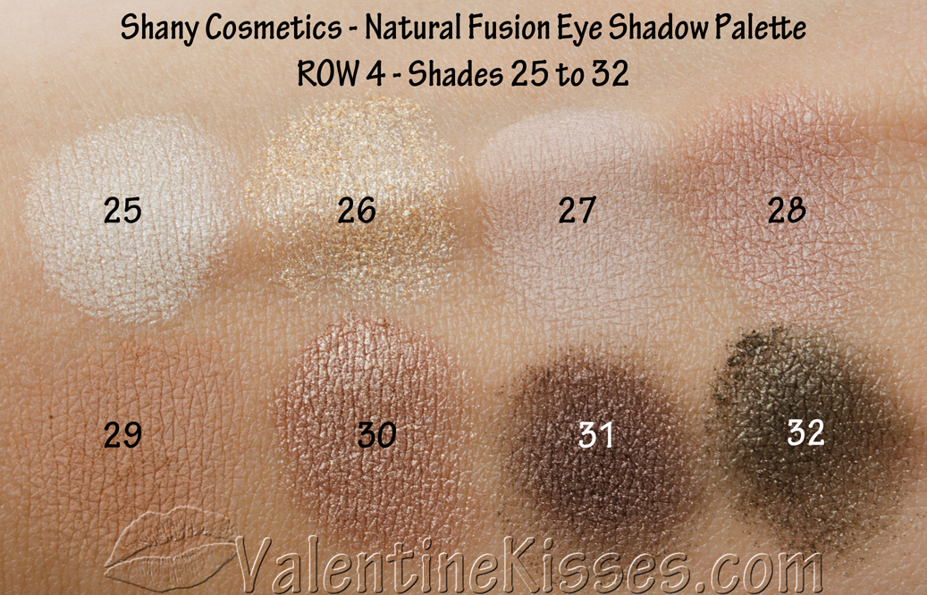 Valentine Kisses Shany Cosmetics Natural Fusion Eye Shadow Palette