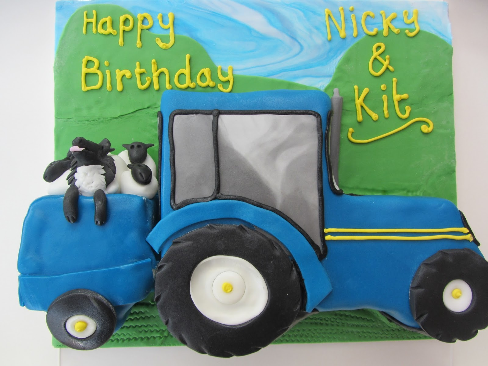 Jo Bakes Cakes: Tractor Cake