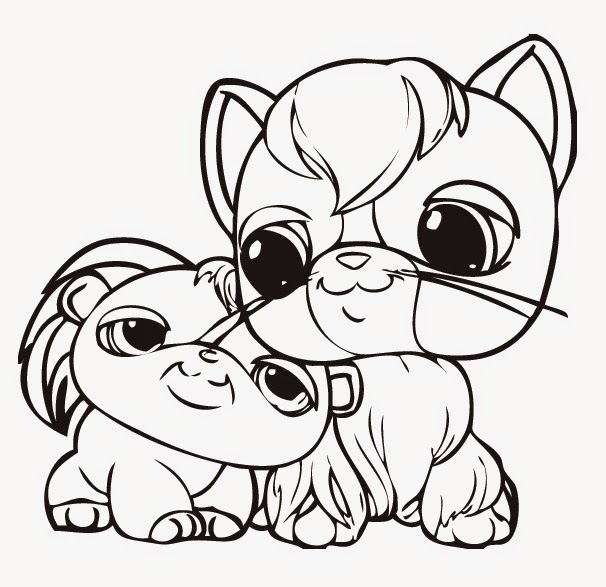 littlest pet shop coloring pages dog malowanki kolorowanki do druku i rysowanie pet shop