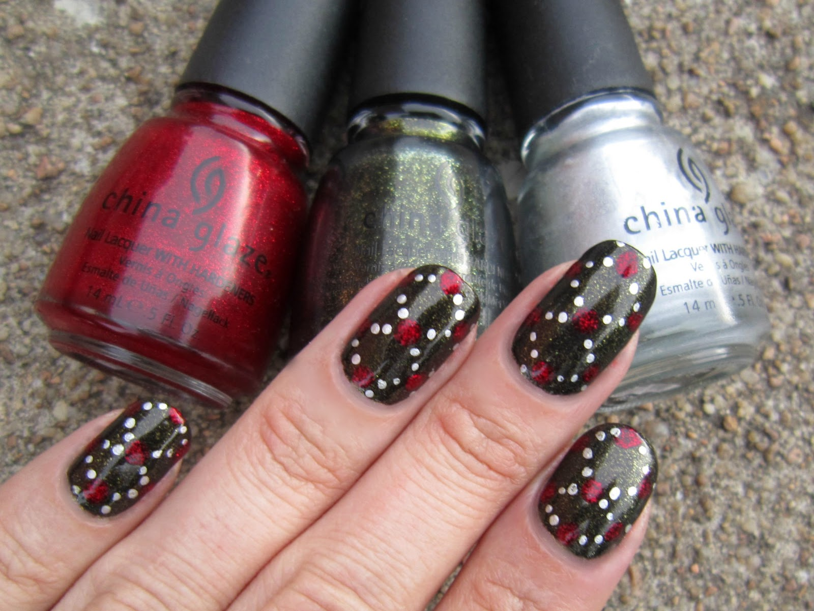 Christmas Glitter Nail Polish China Glaze Creative Touch