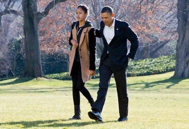 Resultado de imagen para barack obama y malia