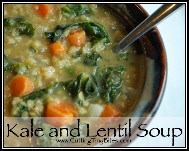 Kale and lentil soup.  Hearty, flavorful vegetarian meal with only a few simple ingredients.
