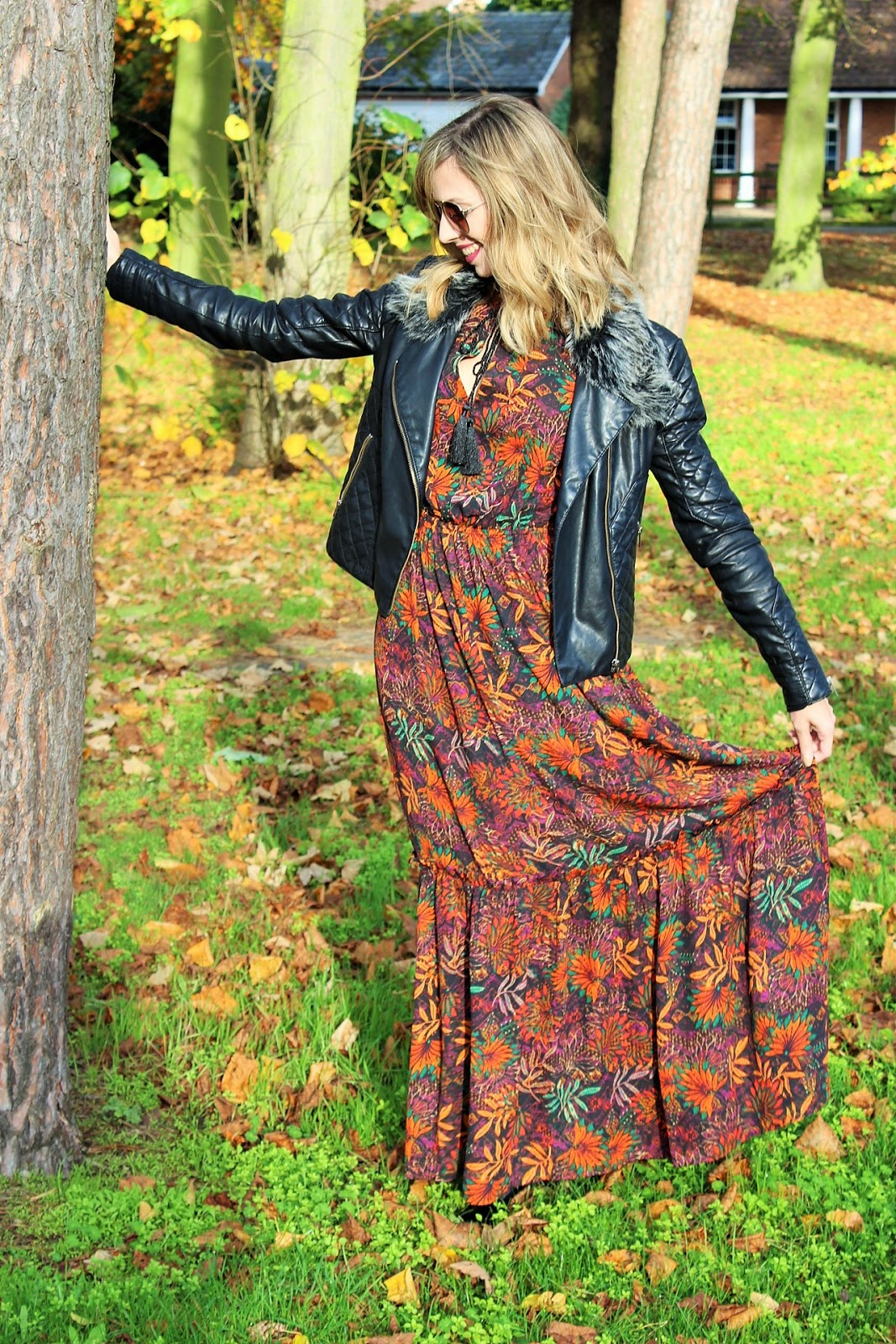 OOTD featuring H&M floral maxi dress - Autumn/Winter 2015