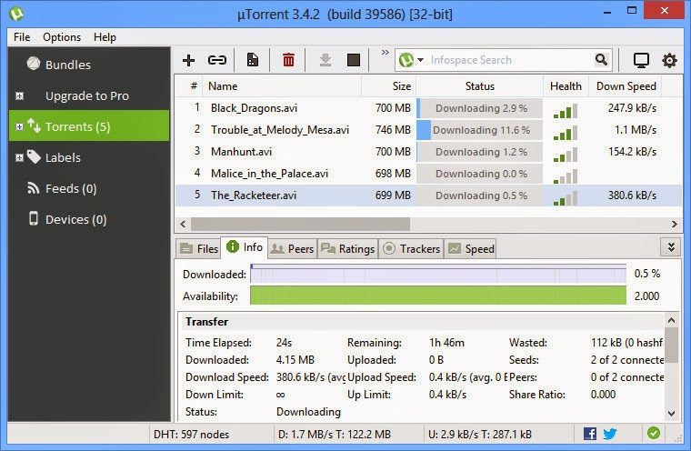 Download uTorrent 3.4.3.40208 Terbaru 2015
