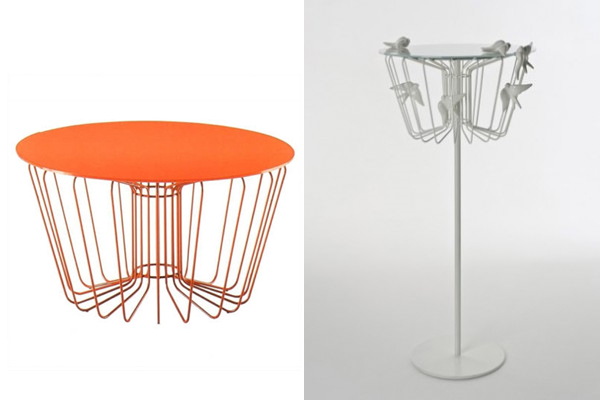 Italian design grand tour fabrica renews zanotta products with arik levys wire table is turned into a bird cage greentooth Gallery