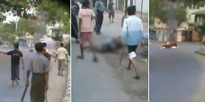 Video Sadisme Penghancuran Muslim Myanmar Oleh Warga Buddha Tersebar Luas