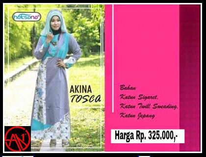 Busana Muslim Baju Gamis Akina Tosca San First