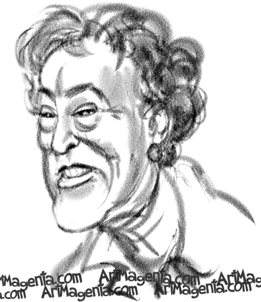 Julia Child is a caricature by illustrator Artmagenta