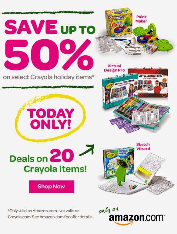 Save up to 50% Off Crayola Holiday Items!