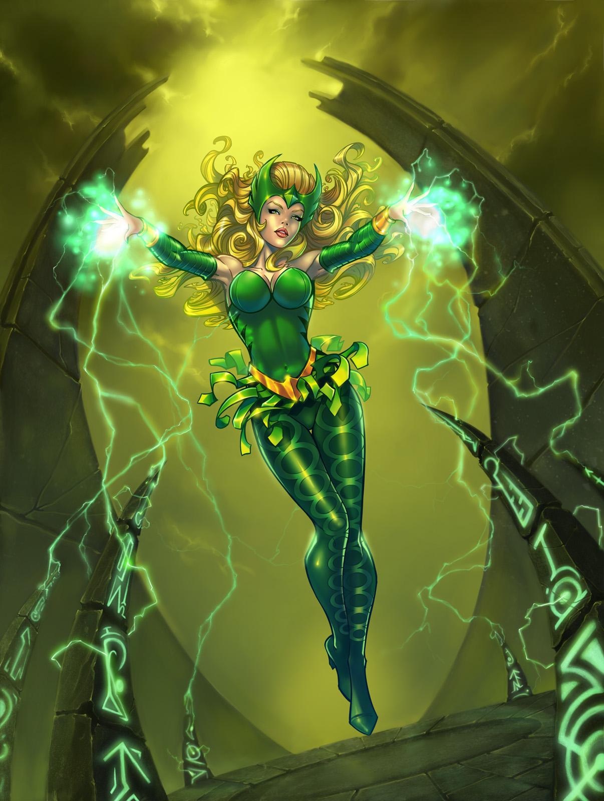 La Encantadora es una diosa asgardiana , inmortal y nunca envejece