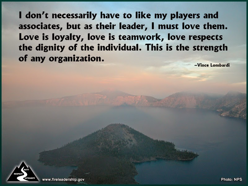 I don't necessarily have to like my players and associates, but as their leader, I must love them. Love is loyalty, love is teamwork, love respects the dignity of the individual. This is the strength of any organization. –Vince Lombardi