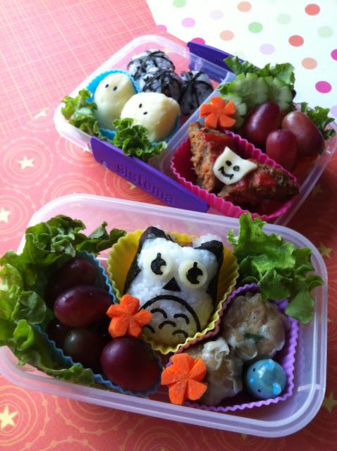 Owl, Bat, Ghost Bento, フクロウ弁当
