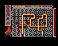 Captura de pantalla de Pipe Mania, Amiga 500 (1989)