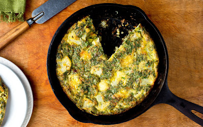 Tunisian Style Baked Cauliflower Frittata Recipe