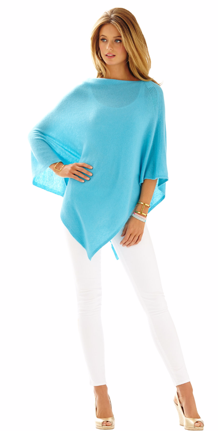 LILLY PULITZER ELLIS CASHMERE WRAP BLUE