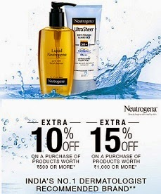 Nutrogena Beauty & Perosnal Care: Flat 10% Off on Rs.500 and 15% Off on Rs.1000 @ Flipkart