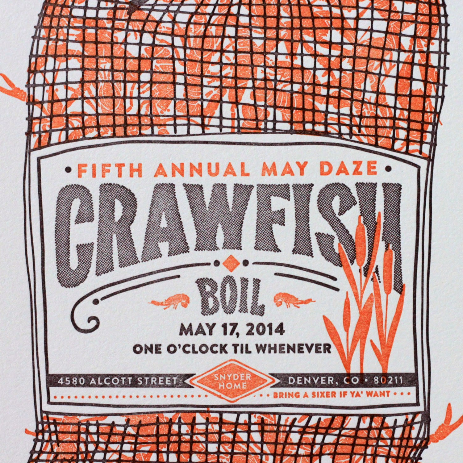 Time to Sack Up: Fifth Annual Crawfish Boil Invitation