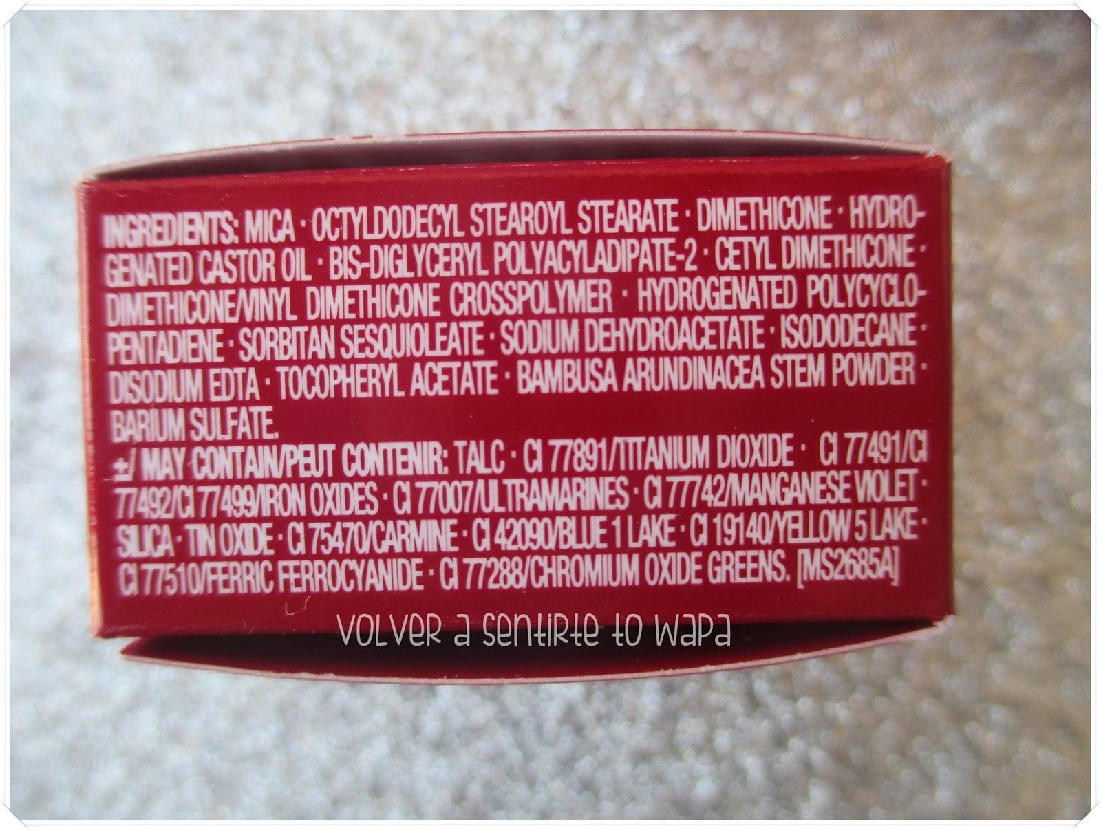 Ombre Matte de Clarins - Ingredientes