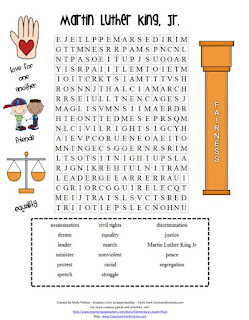 FREE Printable Martin Luther King, Jr. Word Search