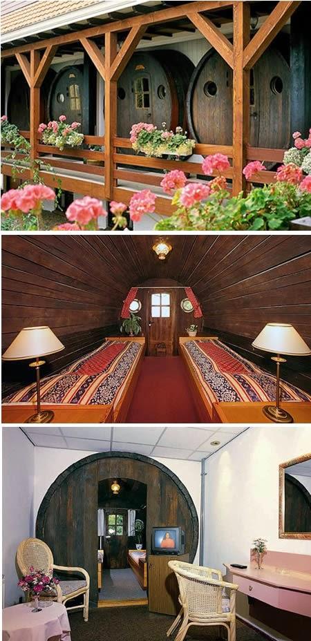 The De Vrouwe van Stavoren Hotel (Netherlands): made from recycled wine barrels