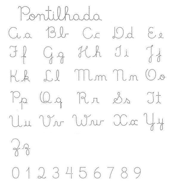 Coisas de Prs Alfabeto pontilhado e numerais pontilhados