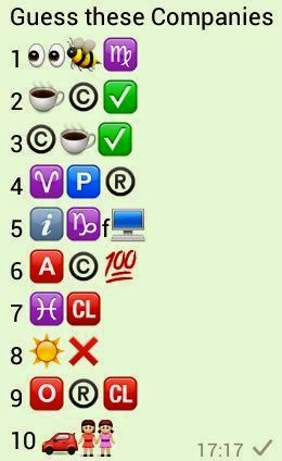 Guess these companies whatsapp Quiz