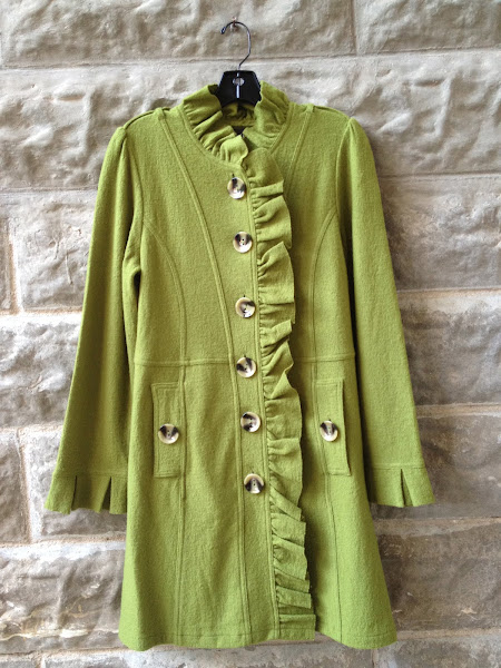 Boiled wool coat.  Super cute!!!  $128