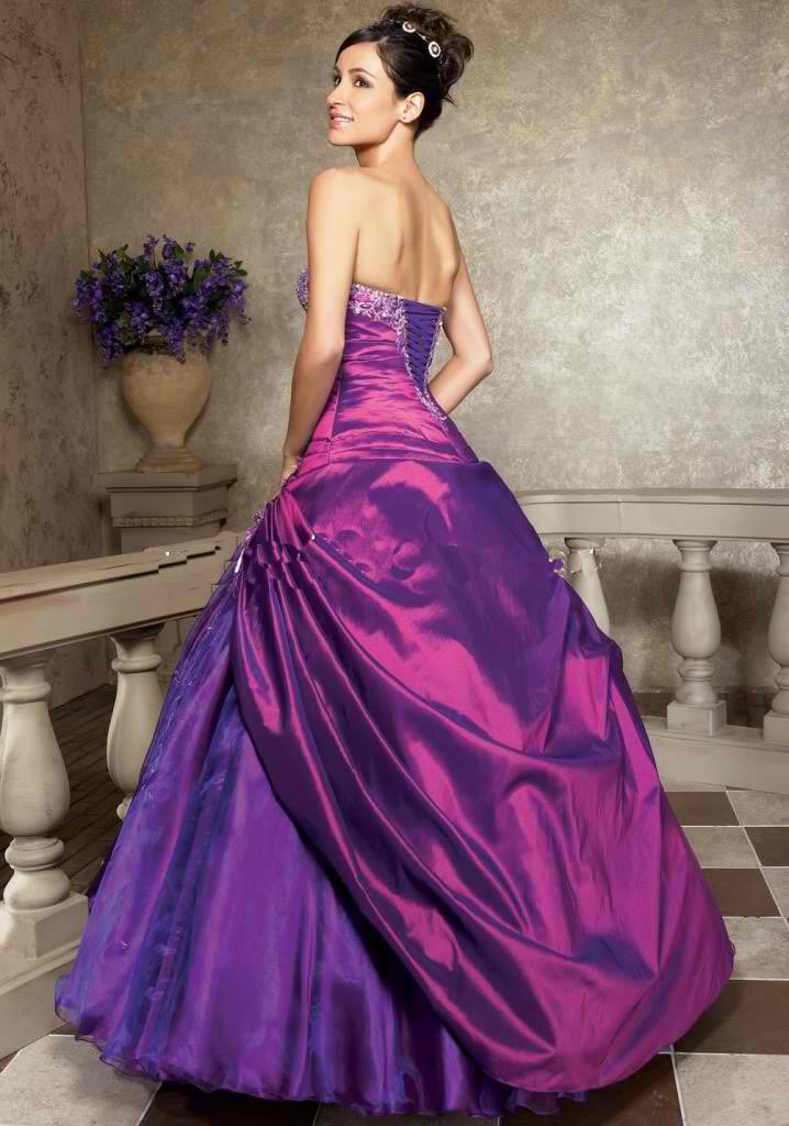 Purple dresses for women women dresses for Wedding dresses with purple trim