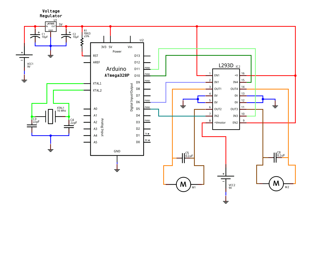 bipolar stepper motor driver circuit using uln2003
