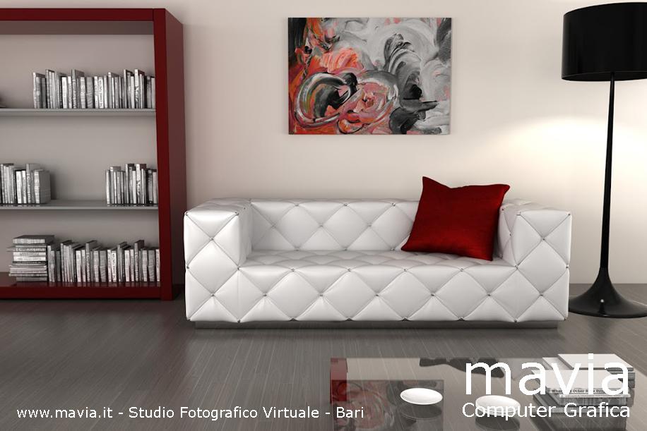 Arredamento di interni divani 3d realizzazione modelli for Divani moderni pelle